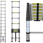 ALU Teleskopleiter 3,8m Leiter Aluleiter Anlegeleiter Teleskop Mehrzweckleiter